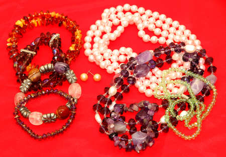 many vintage necklaces on sale at the jeweler shop 3 photo
