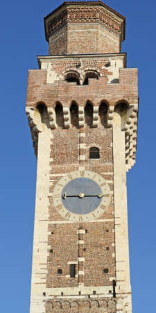 felice: huge clock tower of the old church of San Felice in Vicenza