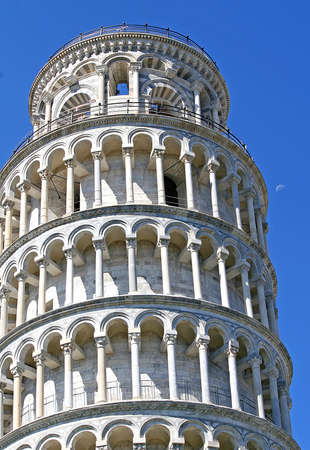 famed leaning tower of Pisa in Piazza dei Miracoli in Italy  photo