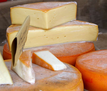 milkman: excellent yellow cheese on sale from milkman into a village fair