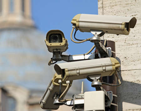 four surveillance camera to see all main points of the great metropolis photo