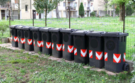 number of bins for separate collection of rubbish severity 8 photo