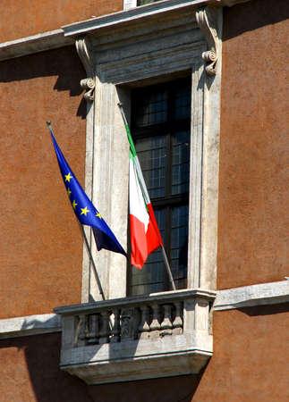 balcone di Piazza Venezia a Roma, dove si domina il Duce Benito Mussolini Archivio Fotografico