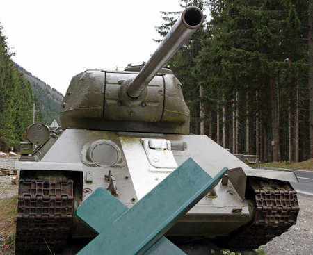 huge tank cannon used during the war for the defence of the seats by the enemies