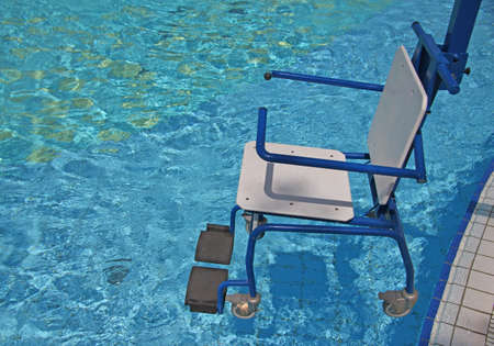 wheelchair for the disabled for use in swimming pool 2 photo