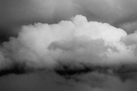 leaden: huge white cloud and sky cloudy leaden with large rain-laden clouds