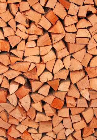 woodshed: many tree trunks in the Woodshed of lumberjack Stock Photo