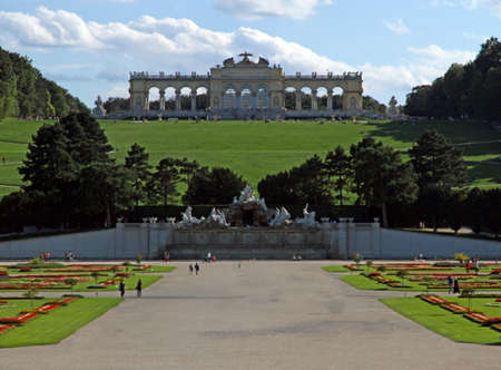 the gloriette: Majestic GLORIETTE in SchonBrunn Castle Park in VIENNA Editorial