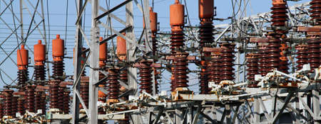 detail of the electrical system of the power plant to produce electricity photo