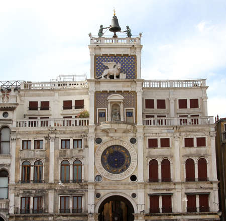 clock of the moors: St Marks Clocktower with the statues of the two Moors