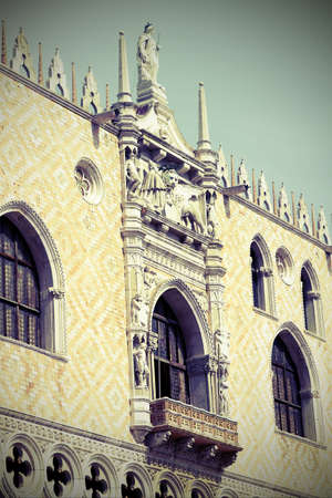 doges  palace: detail of doges palace in  in Venice