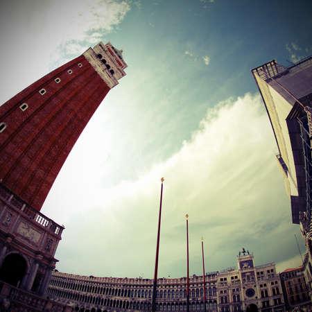 campanile of Saint Mark in Venice in Italy Stock Photo