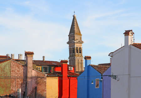 bell tower of BURANO near Venice photo