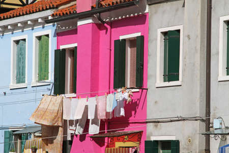 beautiful colorful houses on the island of BURANO near Venice in Italy