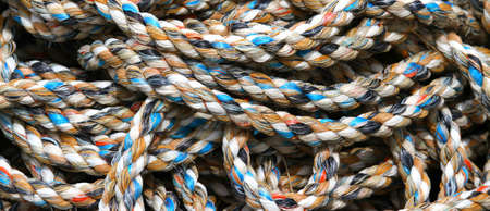 sturdy: Sturdy hemp rope for fishermen in the harbour area