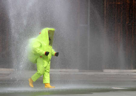 yellow suit protective radiation defense against biological warfare