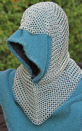 hooded vest: Iron vest and armor of the medieval knight armor Stock Photo