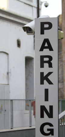 written PARKING a car park monitored by CCTV cameras