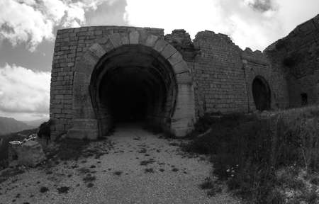 a war historian: ancient Fort of Campo Molon used by the Italian army during World War I
