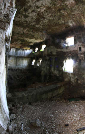 a war historian: Interior of the great Fort Sommo used from the austro Hungarian army during World War I