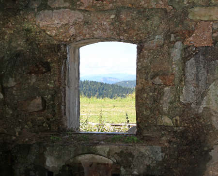 a war historian: Mountain Panorama from the window of Fort Sommo of the First World War