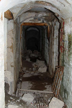 a war historian: Internal Tunnel connecting of the abandoned Sommo Fort of World War I