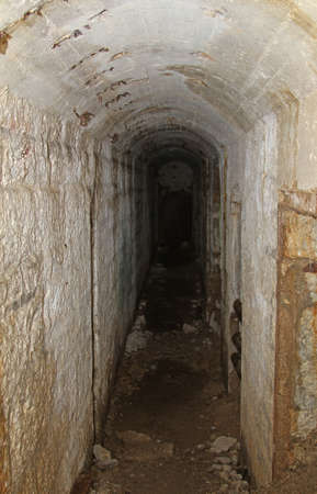 a war historian: long tunnel inside the fortification called Fort Sommo used by the army during the first world war fought in Italy