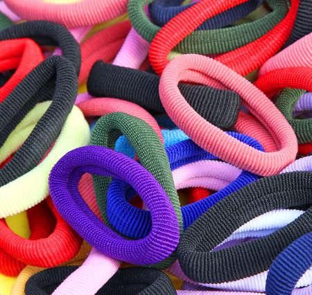 veel elastiekjes om het haar van meisjes te versieren