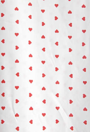 tablecloths with red heart shape Stock Photo