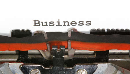 Business written with black ink with the typewriter photo