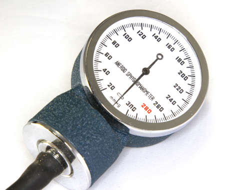 aneroid: Sphygmomanometer with blood pressure meter isolated