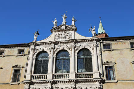 historian: San vincenzo Church in the city of vicenza in Italy Stock Photo