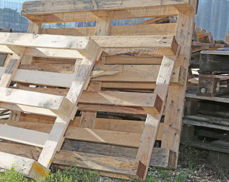 pile of wooden pallets highly flammable
