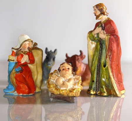 presepe: Nativity scene with baby jesus