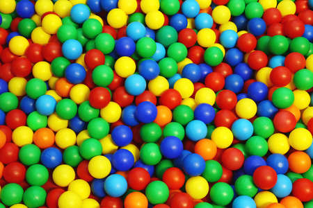 thousands of plastic ball in the game pool