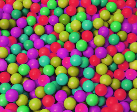phosphorescent coloured balls in the game pool Stock Photo