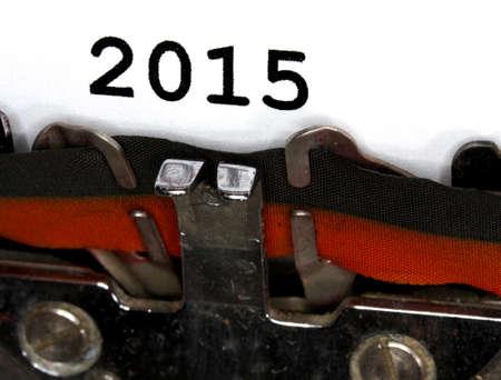 very old Typewriter Types 2015 Closeup black ink