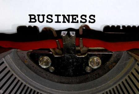 old Typewriter Types BUSINESS Closeup Stock Photo - 34221805