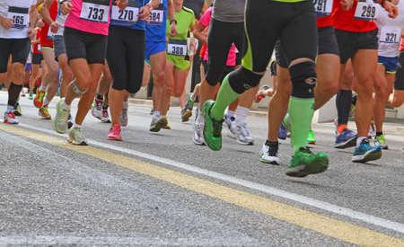 many Athletes during the marathon