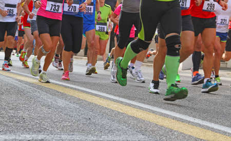 many Athletes during the marathon