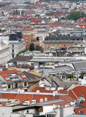 concreting: Aerial view of the city with many homes and houses of citizens in europe