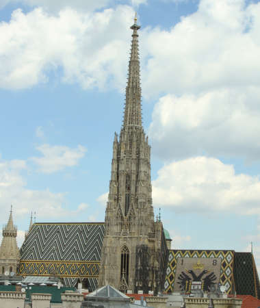 bell tower: high Bell Tower of St. Stephens Cathedral in Vienna