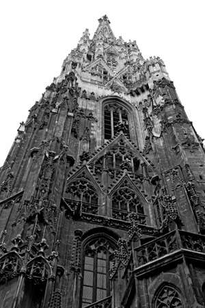 saint stephen cathedral: high Bell Tower of the Cathedral of St. Stephen in the Centre of Vienna in austria