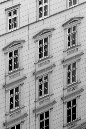 many windows: many Windows of the old palace of the European city