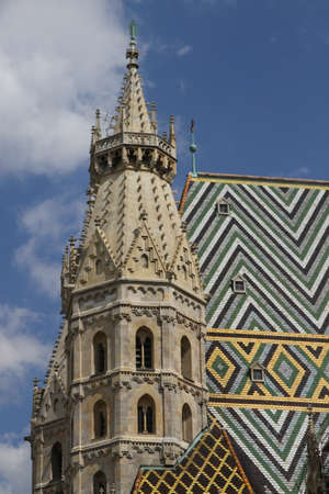 saint stephen cathedral: Bell Tower of St. Stephens Cathedral in Vienna, austria, Europe