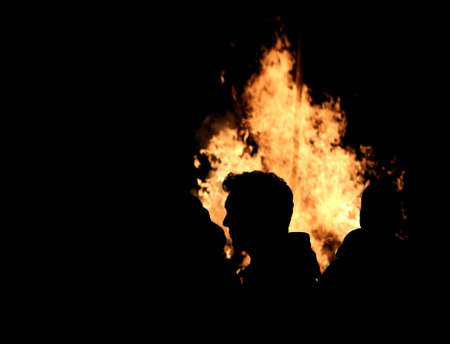 incendiary: defenseless people helpless to assist burning of their homes