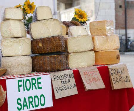 Sardinian origin cheese for sale in the italian market
