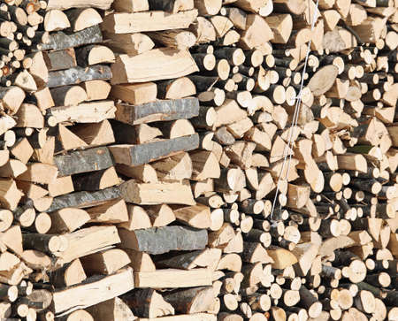 woodshed: large Woodshed with pieces of wood cut for the stove