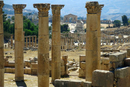 area of the Roman temples in the city of Jerash in Jordan