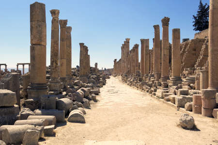 greco roman: area of the Roman temples in the city of Jerash in Jordan
